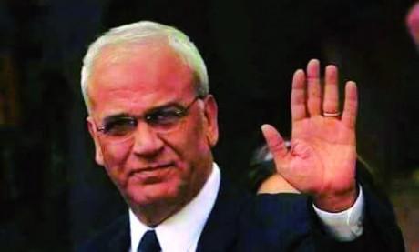 Décès du haut dirigeant palestinien Saëb Erakat