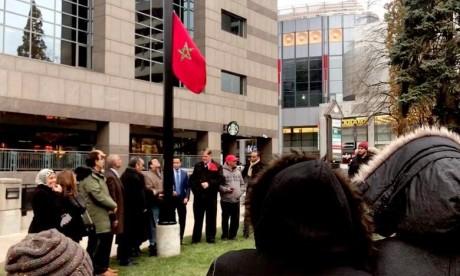 Levée du drapeau marocain à Toronto