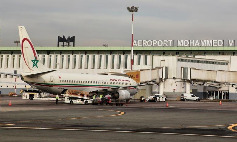 L'aéroport Mohammed V a accueilli 46% environ du trafic passager global, contre 848.373 passagers pour la même période de l'année 2019, en régression de 79,08% . Ph : DR