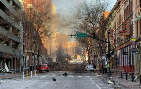 Etats-Unis: une puissante explosion secoue Nashville le jour de Noël