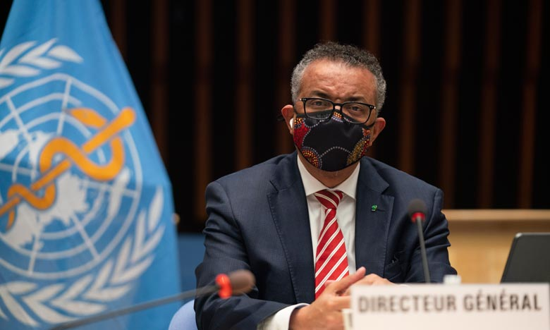 Le directeur de l'OMS est prêt à se faire vacciner publiquement contre le coronavirus pour convaincre la population, a insisté sur le fait que la voie vers la fin de la pandémie était encore longue. Ph :  AFP
