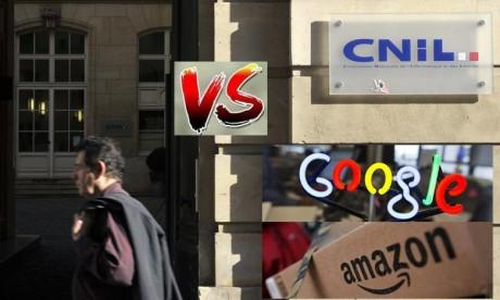 Les deux géants du numérique ont été amendés par le régulateur français de l'Internet pour non-respect de la législation sur les traceurs publicitaires. Ph : AFP
