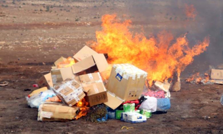 Destruction d'une grande quantité de drogue à Midelt