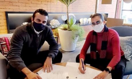 Youssef Lazrak, DG d'Onomo Casablanca City Center, et Chaimaâ El Ghani, fondatrice de GO4Work.