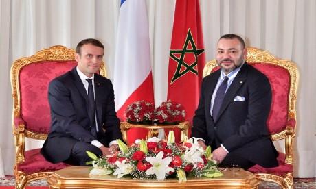 S.M. le Roi souhaite un prompt rétablissement au Président de la République française suite à sa contamination à la Covid-19