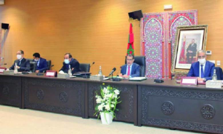 Saad Dine El Otmani présidant mardi la quatrième session du conseil d'administration de l'ONEE.