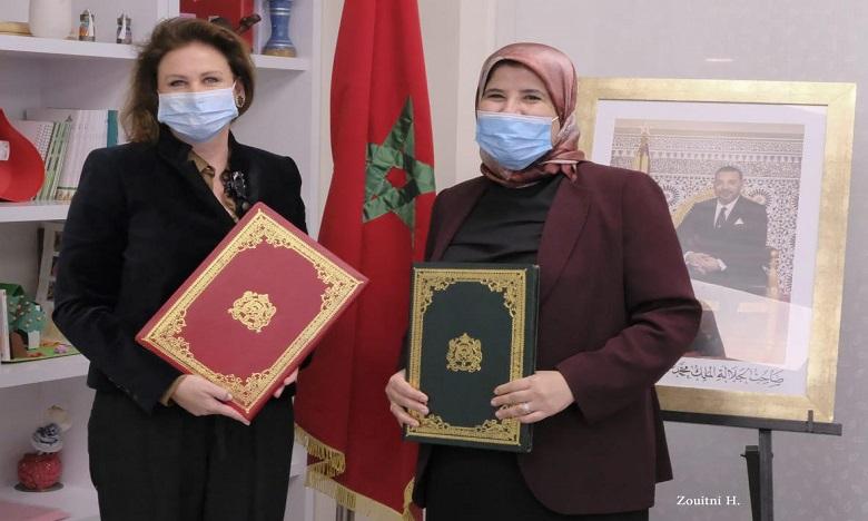 S.A. la Princesse Lalla Zineb et la ministre de la Solidarité et du développement social, Jamila El Moussali