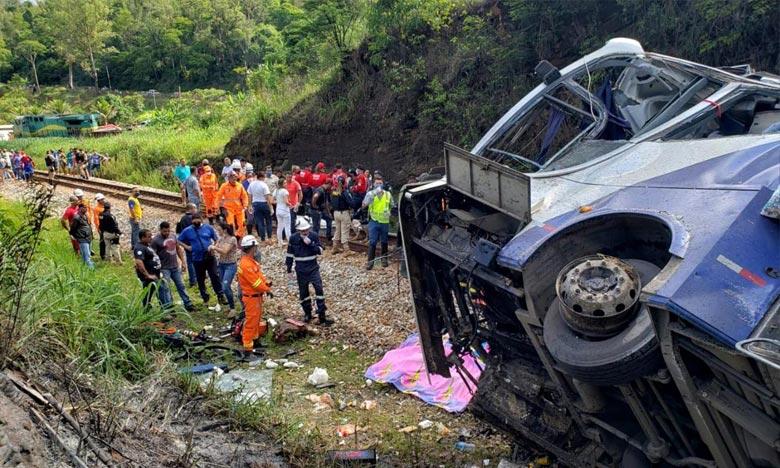 D'après les constatations préliminaires des experts, le conducteur «a perdu le contrôle du véhicule après une possible défaillance des freins. Ph :  AFP