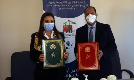 L'AREF de Casablanca-Settat et la Fondation Ennajah s'allient