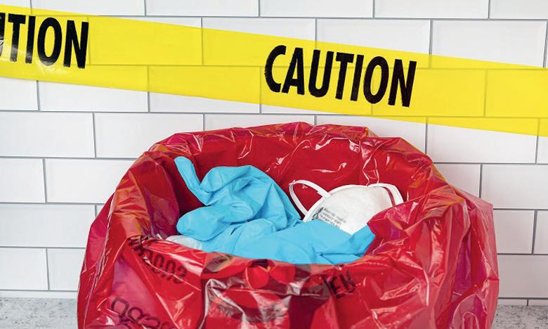 Environ 0,5 kg de déchets est produit par jour et par lit dans les hôpitaux. Ph. DR