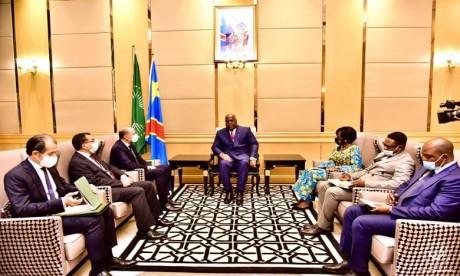 M. Jazouli remet à Kinshasa un message de S.M. le Roi au président Tshisekedi