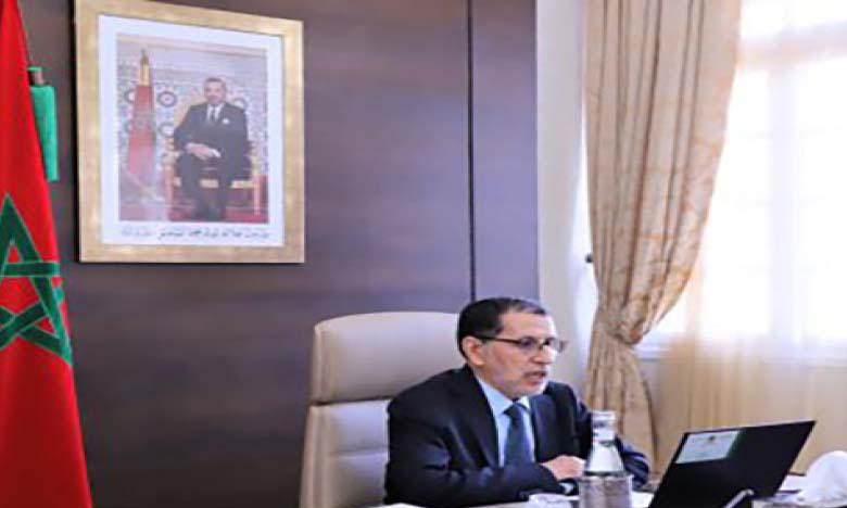 Saad Dine El Otmani réaffirme la «mobilisation permanente du gouvernement derrière S.M. le Roi Mohammed VI dans toutes Ses initiatives lancées au service des intérêts suprêmes du Royaume»