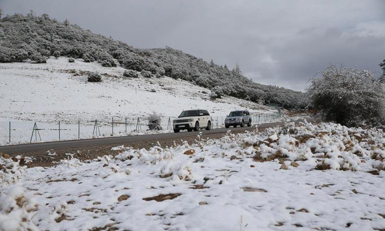 La DGM prévoit pour ce vendredi, des chutes de neige sur les reliefs du Rif, du Haut et du Moyen Atlas dépassant 1.700 m . Ph : MAP