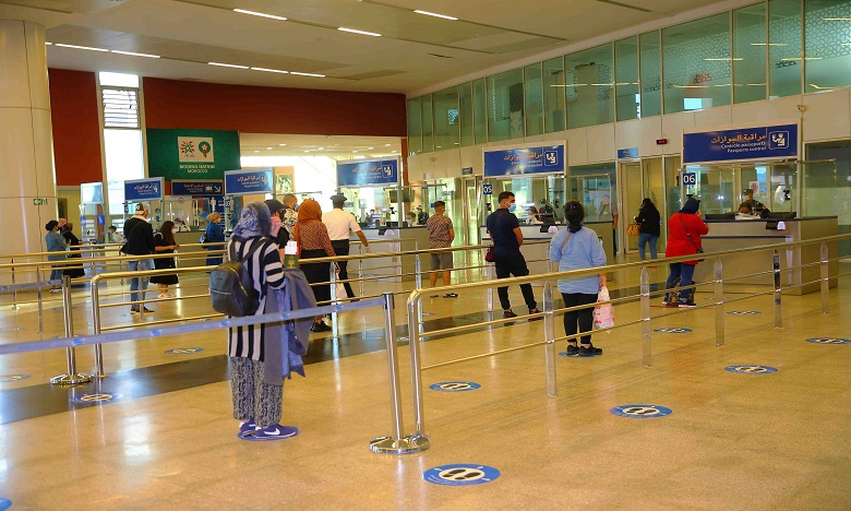 Pour le seul mois de novembre, les aéroports du Royaume ont enregistré une baisse du trafic aérien de 81,24% à 374.731 passagers. Ph. MAP