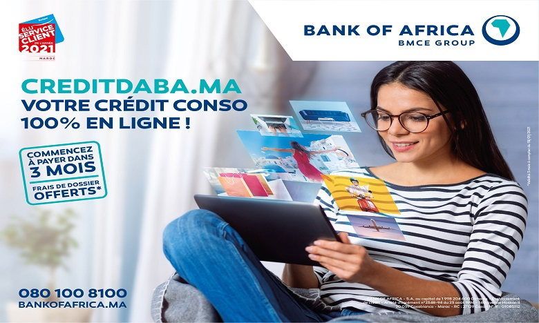 creditdaba.ma : le crédit à la consommation totalement digitalisé chez BANK OF AFRICA