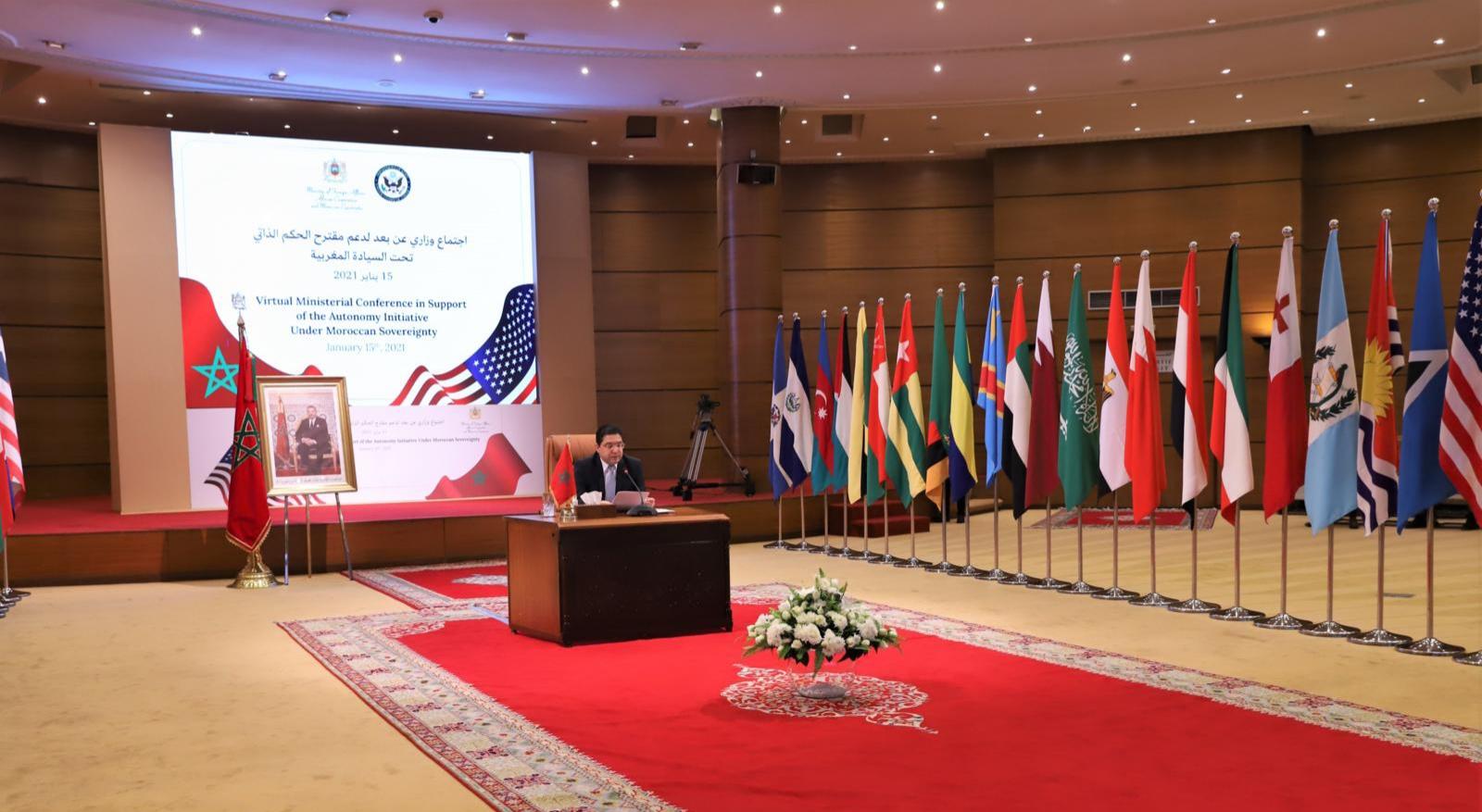 Conférence ministérielle de soutien à l'autonomie: Fort appui à l'initiative marocaine comme seule base pour régler le conflit du Sahara