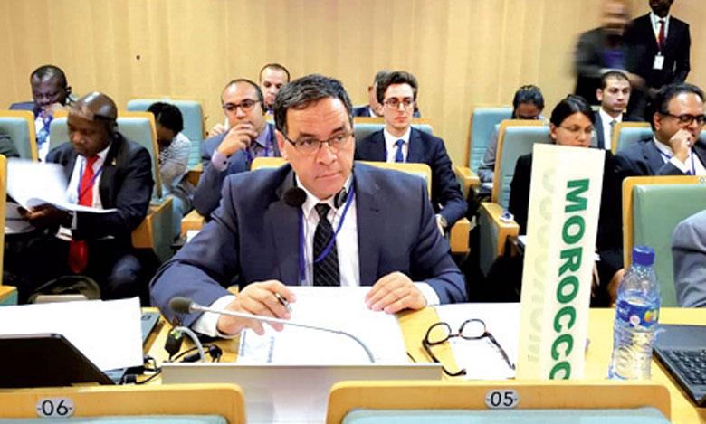 L'Ambassadeur Représentant Permanent du Maroc auprès de l'Union africaine et la CEA-ONU, Mohamed Arrouchi.