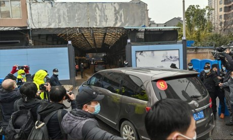 Chine: Les experts de l'OMS visitent le marché Huanan de Wuhan, premier foyer de l'épidémie