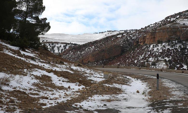 La DGM ce dimanche, un temps froid sur les reliefs, l'Oriental, le Sud-est, le Saïss, les Hauts plateaux et assez froid sur les plaines Nord avec gelée ou verglas. Ph : MAP