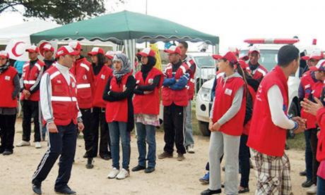 Formation au profit  des secouristes  du Croissant-Rouge