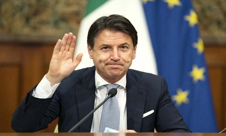 Giuseppe Conte i a remis la démission de son gouvernement ce mardi. Ph. AFP