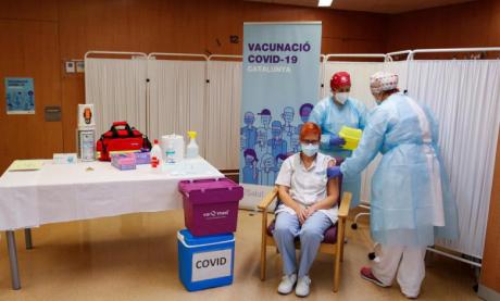 Plus d'un million de doses  administrées en Espagne
