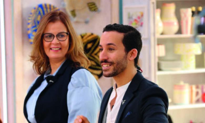Le chef pâtissier Othmane Belefkih et la cake designer Bouchra Tmimi.