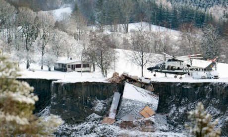Glissement de terrain en Norvège: Un corps retrouvé, les recherches se poursuivent