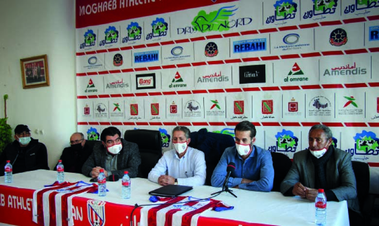 Younès Bellahmar et son staff présentés à la presse