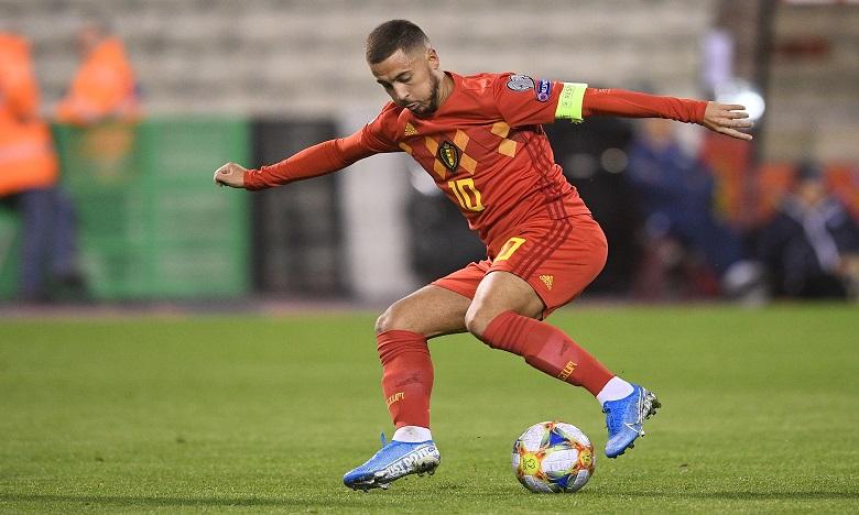 Le joueur compte aujourd'hui 106 sélections (32 buts) avec les Diables Rouges, ce qui le place au troisième rang des joueurs les plus capés. Ph. AFP