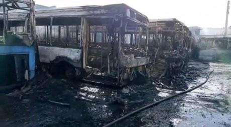 Casablanca : incendie dans un dépôt de bus de transport urbain hors d'usage