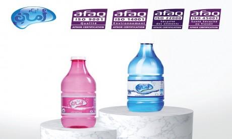 L'eau de table Amane Gharb certifiée QSE