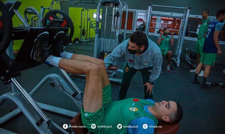 Le staff technique de l'équipe nationale a programmé un travail intense de renforcement musculaire pour l'ensemble des joueurs au cours de ce stage.