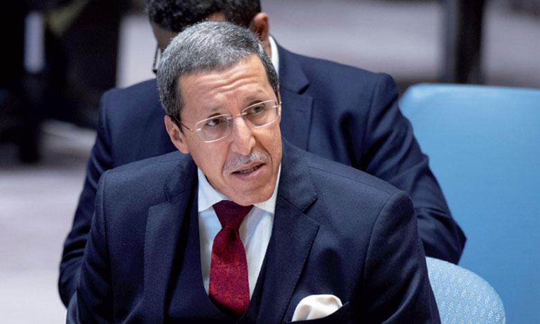L'ambassadeur, représentant permanent du Maroc auprès de l'ONU, Omar Hilale.