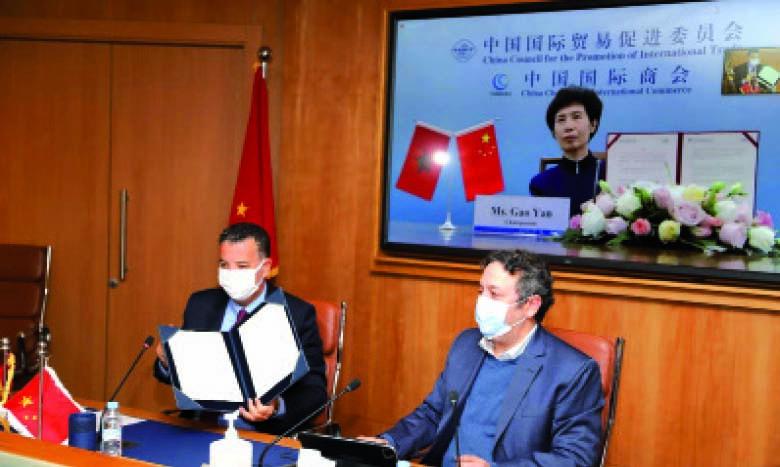 Signature d'un mémorandum d'entente entre la CGEM et le CCPIT.