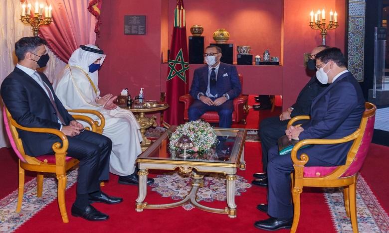 S.M. le Roi reçoit le ministre émirati des Affaires étrangères et de la coopération internationale porteur d'un message du Prince héritier d'Abou Dhabi