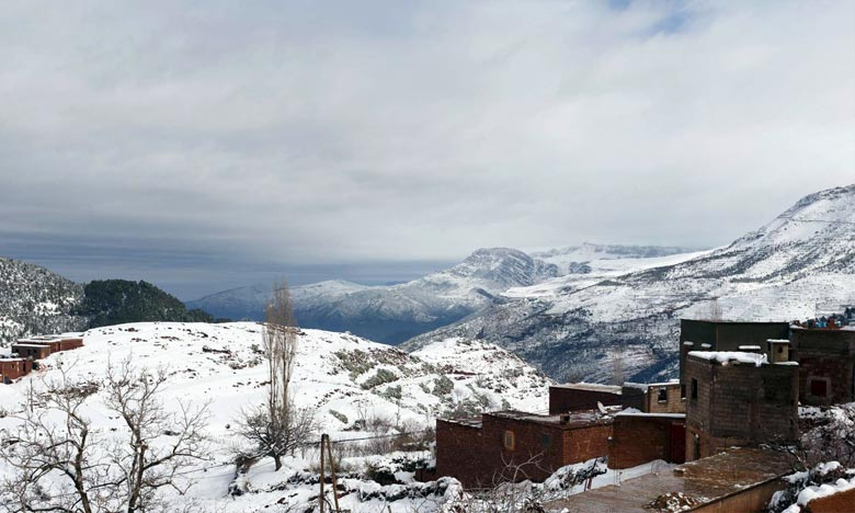 La DGM prévoit pour la journée de ce jeudi, tu temps assez froid sur l'Atlas, les versants Sud-est et les hauts plateaux orientaux. Ph : DR