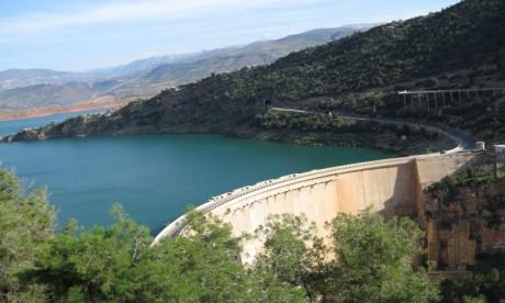 Les retenues du barrage Oued El Makhazine  ont atteint 672,9 millions de m3, soit un taux de remplissage de 100%. Ph : DR
