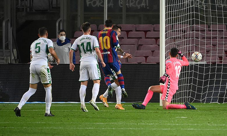 Le doublé de Messi permet aux Catalans de prolonger leur série d'invincibilité à un 14e match consécutif en championnat. Ph :  AFP
