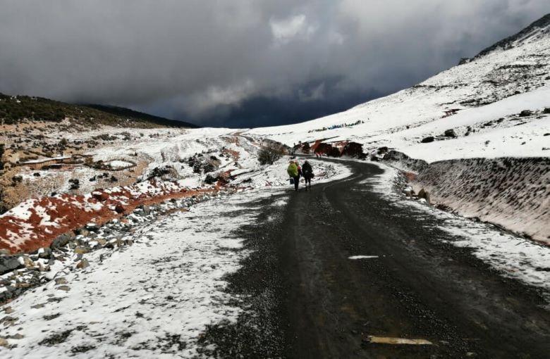 La DGM prévoit pour la journée de ce jeudi 25 février, des  chutes de neige nocturnes sur les sommets du Haut et de l'Anti-Atlas. Ph : DR