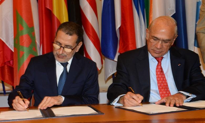 Le protocole d'accord relatif à cette 2e phase a été signé le 25 juin 2019 à Paris par le Chef du gouvernement, Saad Dine El Otmani, et le SG de l'OCDE, Angel Gurria. Ph. DR