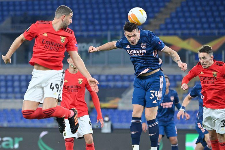 Adel Taarabt a apporté ses qualités techniques en milieu de terrain parvenant à donner de la vitesse au jeu de Benfica à travers ses passes en profondeur et ses percées ballon au pied. Ph : AFP