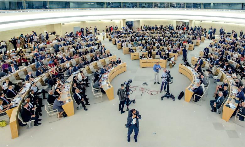 Basé à Genève, le Conseil des droits de l'Homme de l'ONU est composé  de 47 États membres élus. Ph. DR