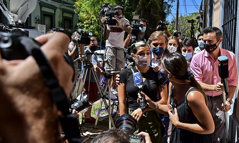 L'enquêtencherche à déterminer une éventuelle négligence ou imprudence dans les traitements médicaux administrés au N.10 argentin. Ph. AFP