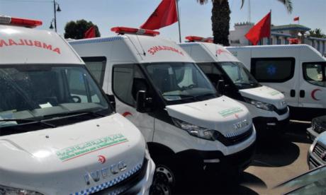 INDH : Remise d'ambulances  à plusieurs communes relevant  de la province