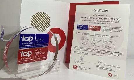 Huawei Maroc obtient la certification Top Employer 2021