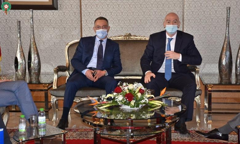 Cette visite s'inscrit dans le cadre de la consolidation des fortes relations existantes entre la FIFA et les responsables de la FRMF. Ph. DR