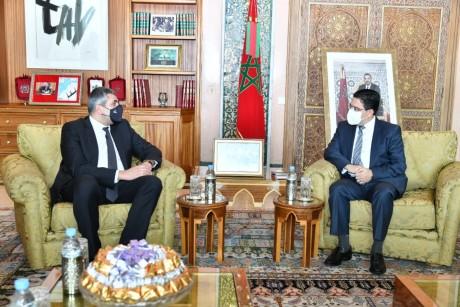 Nasser Bourita s'entretient avec le Secrétaire général de l'OMT