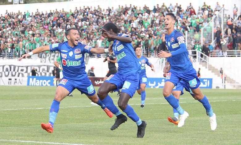 Avec cette précieuse victoire, l'Olympique Club de Khouribga (OCK) s'est placé provisoirement en tête avec 20 points. Ph : Seddik