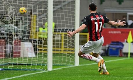 Foot: Ibrahimovic marque son 500e but en club avec Milan contre Crotone